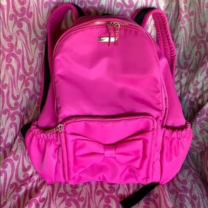 Kate spade pink bow backpack